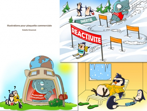 Illustrations 2D pour brochure